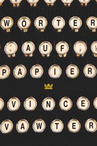Coverfoto Wörter auf papier