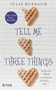 Coverfoto Tell me three things